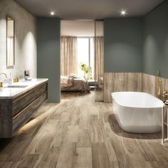 This beautiful bathroom was created using the P series coolwood range. A porcelain stoneware collection using digital printing to create a wood effect. Available in 10 colours, sized Diy Design, Interior Design, Space Interiors, Design Interiors, Bathroom Goals, Beautiful Bathrooms, Bathroom Inspiration, Bathroom Interior, Home Projects