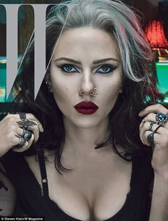 Scar-Jo goes goth: Scarlett Johansson has been totally transformed for the cover of the 40th anniversary edition of W magazine