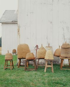 Bee-Inspired Collectibles - Martha Stewart Home & Garden Martha Stewart Home, Bee House, Bee Skep, Vintage Bee, Birds And The Bees, Save The Bees, Bee Happy, Bees Knees, Queen Bees