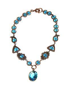 Bijoux Style Vistorian Collier Blue par CatherinetteRings sur Etsy