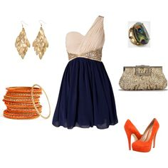 perfect. already pinned this dress, now i found accessories! :D love the orange heels