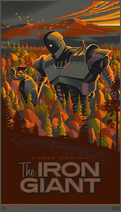 Iron Giant Movie Posters Designed in Retro-Futuristic Style - My Modern Metropolis