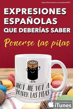 Aprende español: Expresiones españolas que deberías saber: ponerse las pilas [Podcast 047] Learn Spanish in fun and easy way with our award-winning podcast: http://espanolautomatico.com/podcast/047REPIN for later
