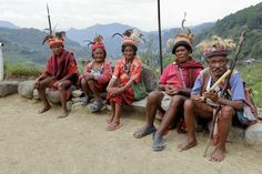 "Igorot Tribes, Cordillera Provinces in the Philippines - one of the most preserved cultures you can find when you travel in the mountain places of Baguio City, Benguet, Kalinga, Bontoc and Apayao. "" Igorot Tribes are grouped into six ethno-linguistic groups: they are the Bontoc, Ibaloi, Isneg (or Apayao), Kalinga, and the Kankanaey tribes"" Filipino Culture, Filipino Food, Tribal Background, Baguio City, World Class, Travel And Leisure, Pinoy, Countries, History"