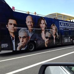This is cool! A Law and Order SVU bus! I wonder where this was...