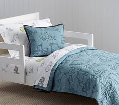 Braden Construction Quilted Toddler Bedding | Pottery Barn Kids