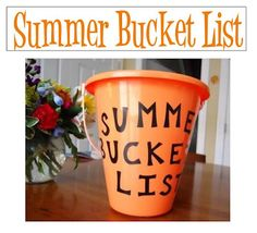 Summer Bucket list. Love this idea. Links to two different types.