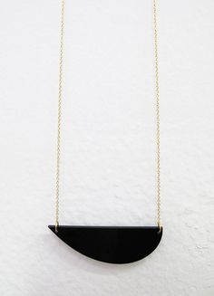 Big Wale I Black Plexiglass Necklace  Handmade di BICAthefablab, lasercut, jewelry, fashion, makers,