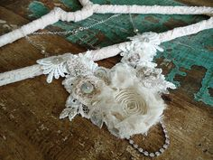 Ivory lace necklace by Magical Mystery Tuca, via Flickr