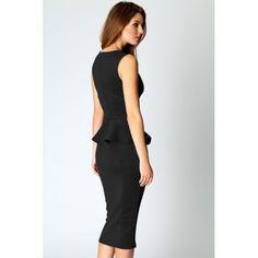Abi Neck Sleeveless knee length sexy pencil Midi Dress