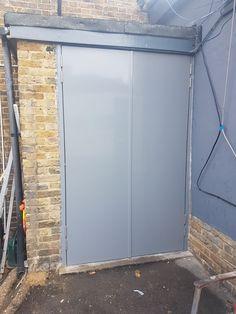 Steel Security Doors by RSG Security Steel Security Doors, Double Doors, The Hamptons, Garden Design, Spanish, Garage Doors, Restaurant, Fire, Outdoor Decor