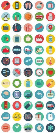 Roundicons - 60 Free Flat Round Icons