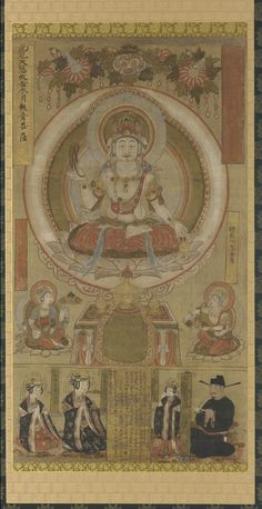 Guanyin of the Water Moon, Northern Song Dynasty, dated to 968, Hanging scroll mounted on panel