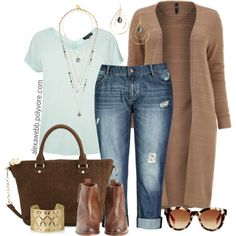 """Plus Size - Mint & Mink"" by alexawebb on Polyvore"