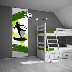 Muursticker voetbal groen