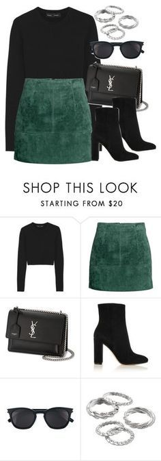 """#13927"" by vany-alvarado ❤ liked on Polyvore featuring Proenza Schouler, Yves Saint Laurent, Gianvito Rossi and Apt. 9"