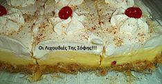 ''ΕΚΜΕΚ ΚΑΤΑΙΦΙ''!!!  Εύκολο και πεντανόστιμο με αφράτη κρέμα βανίλια και φανταστική κρέμα με ζαχαρούχο!!!  ΥΛΙΚΑ  300 γρ.φύλλο καταίφι  125 γρ.βούτυρο φρέσκο λιωμένο  100 γρ.φυστίκι αιγίνης ή αμυγδαλα τριμμένα (προαιρετικά)  ΣΙΡΟΠΙ  2 κούπες ζάχαρη  1 κούπα νερό  1 βανίλια  1 ξύλο κανέλας  λίγες σταγόνες χυμό λεμονιού  ΚΡΕΜΑ ΒΑΝΙΛΙΑΣ  1.500 Cookbook Recipes, Cooking Recipes, Greek Desserts, Eclairs, Sweet Recipes, Camembert Cheese, Cravings, Cheesecake, Deserts