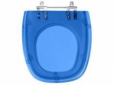 Assento Sanitário Azul Translúcido Monte Carlo - para Louça Deca - Pontto Lavabo