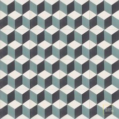 cube tiles - love this soft teal color