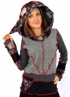 Pixie hOOdie  Punkte und Streifen  mittlere Pullover von Fairytea