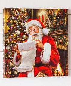 Santa LED Canvas #zulily #zulilyfinds