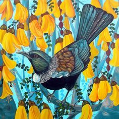 Irina Velman Irina Velman is a West Auckland artist whose paintings can be found in private collections throughout the world. Known for her distinctive style and vibrant colours, Irina's inspiration comes from the dramatic beauty of New Zealand. Bird Artwork, Watercolor Artwork, Art Maori, Irina S, New Zealand Art, Nz Art, Wildlife Art, Sculpture Art, Street Art
