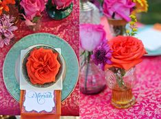 Moroccan ♥ Indian ♥ fusion ♥ wedding ♥ decor ♥ reception ♥ flowers ♥ centrepiece ♥ candles ♥