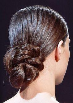 25 Easy Wedding Updos   sleek low bun @stylecaster