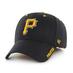 Pittsburgh Pirates Frost Black 47 Brand Adjustable Hat 1f1af93a4736