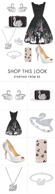 """""""Ugly Duckling no More"""" by vanessa-giuliani on Polyvore featuring Talbots, Swarovski, Badgley Mischka and Sonix"""