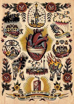 Discover the meaning behind Sailor Jerry's famous old school tattoos, from dragon tattoos to classic skull tattoo designs. Visit our Website for Band Tattoos, Body Art Tattoos, Small Tattoos, Sleeve Tattoos, Mom Tattoos, Tattoo Old School, Old School Tattoo Designs, Berg Tattoo, 4 Tattoo