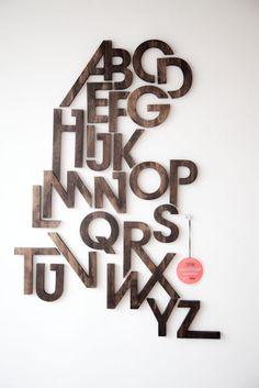 wall wooden alphabet