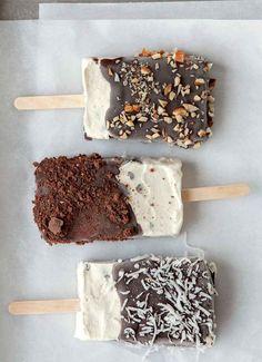 Homemade Ice Cream Bars More
