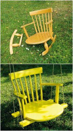 Bellissime queste 20 idee per riciclare le vecchie sedie! Da vedere…