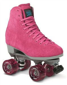 Boardwalk Fame is for Indoor Roller Skating. Each package features its own color indoor fame wheels that are perfect for indoor skating at the roller rink. - Suede Leather boot (Pink, Purple, Red, or