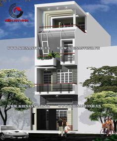 14 mẫu nhà phố đẹp theo kiến trúc hiện đại được ưa chuộng hiện nay - Kiến An Vinh