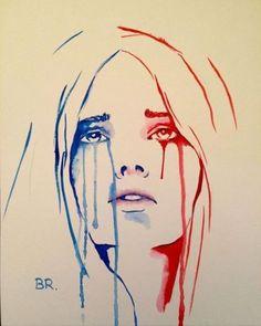 Notre étendard personnifié pleure des larmes bleues et rouges pour les victimes des attentats à Paris dans ce poignant dessin de Benjamin Regnier...