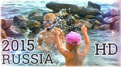 VLOG Дети купаются на диком пляже Черное море 2015   Children bathe in t...