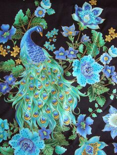 Peacock Color fabric | Peacock fabric for Shelby | Flickr - Photo Sharing!