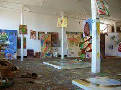 Lauren Luloff's Brooklyn studio