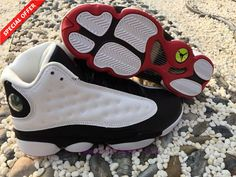 f1ac4212fe8e Buy Mens-Womens HE GOT GAME AIR JORDAN 13 RETRO White Black 309259-104