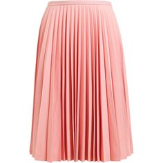 J.W.ANDERSON Pleated Crepe Wool Skirt (2.595 RON) ❤ liked on Polyvore featuring skirts, bottoms, saias, юбки, pleated skirt, j.w. anderson, red pleated skirt, red wool skirt and wool skirt