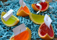Jelly boats for a kids party