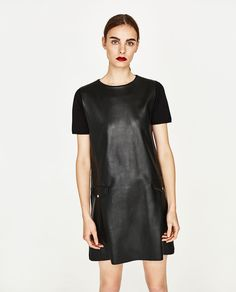 FAUX LEATHER DRESS WITH POCKETS-DRESSES-WOMAN-COLLECTION SS/17 | ZARA United States