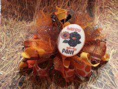 Happy fall funky loopy bow  12.00