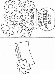 kids mother day cards flower mothers day card templates - Printables Kids