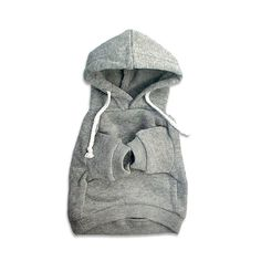 Grey Sweatshirt Hoodie – Small Dog Mall - Good things for little dogs.