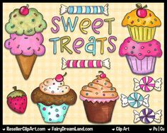 treats | Sweet Treats Clip Art - Commercial Use Graphic Digital Image Png ...