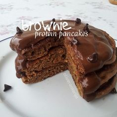 Ripped Recipes - Brownie Protein Pancakes - Perfect for cutting and bulking. Complex carbs, a ton of protein.