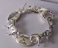 Western I Love My Horse Born To Ride Cowgirl Bracelet $14.99
